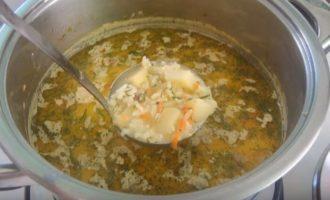 Рисовый сырный суп - как приготовить. Пошаговый рецепт с фото.