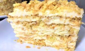Торт Наполеон ленивый без выпекания за 20 минут