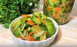 Салат из зеленых помидор - рецепт с фото