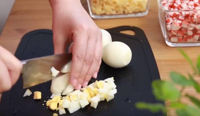 яйца порезанные